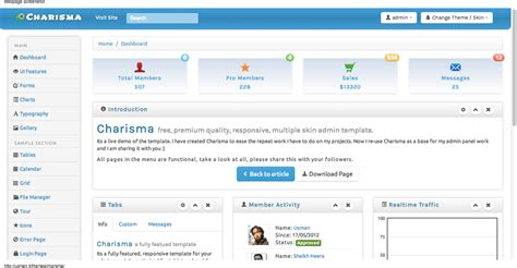 free bootstrap admin themes david carr web developer blog