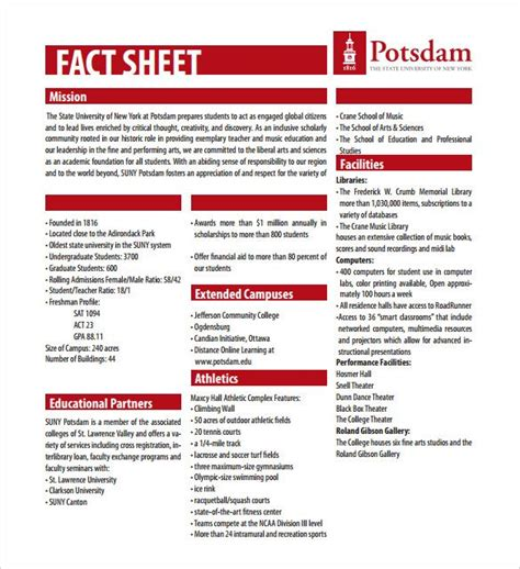 fact sheet templates   apple pages google docs fact sheet word template words