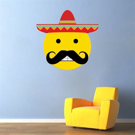emoji wallpaper walls mexican emoji wall mural decal mexican wall decal murals