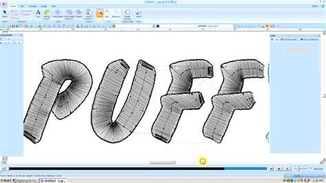 tutorial 2020 design v9 brother pe design next digitizing for 3d foam lesson 38