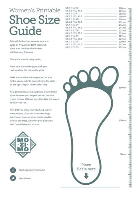 printable child shoe size chart uk printable shoe size guides mozimo