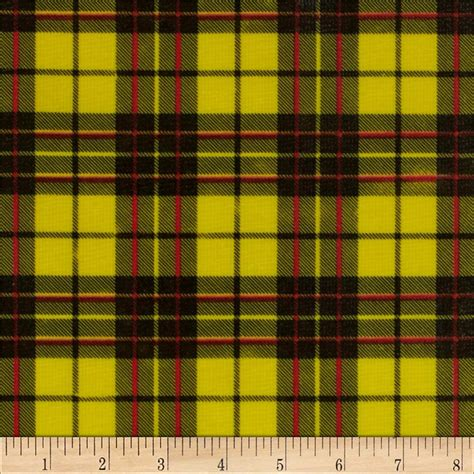 oilcloth glen plaid yellow discount designer fabric