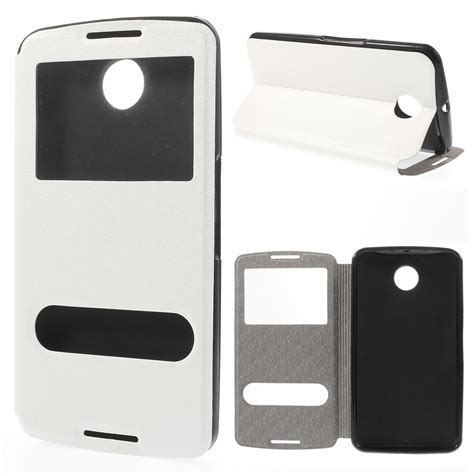 Taff Leather Flip Window For Samsung 3 taff leather window filp for nexus 6 white jakartanotebook