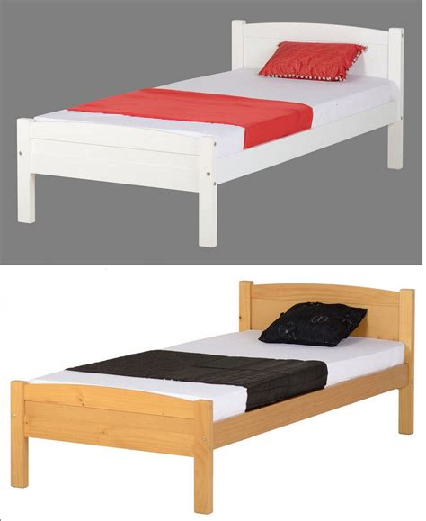 Single Bed Wood Frame Seconique Wooden 3ft Single Bed Frame In White Or Antique Pine Ebay