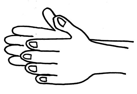 coloring pages of clapping hands free coloring pages of clapping