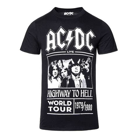Tshirt Ac Dc Band White ac dc highway to hell tour black t shirt official band