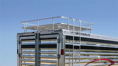 Trailer Hay Rack by Livestock Show Trailers Featherlite Trailers