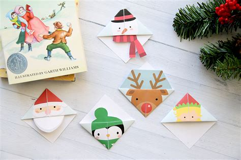Printable Christmas Origami Bookmarks | printable christmas origami bookmarks it s always autumn