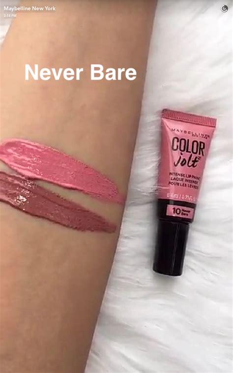 Maybelline Colour Jolt maybelline color jolt lip paint swatches via