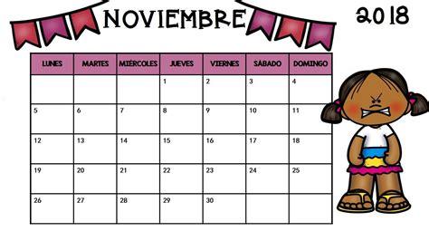 Calendario Word 2018 Calendario Noviembre 2018 Para Imprimir Pdf Excel Word