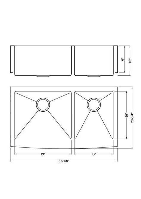 standard apron sink size sinks ideas olivertwistbistro com