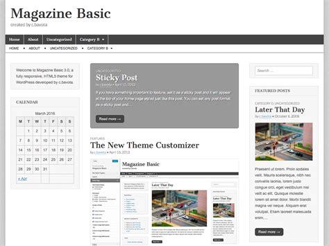 magazine design basics 10 most popular free wordpress themes design3edge com