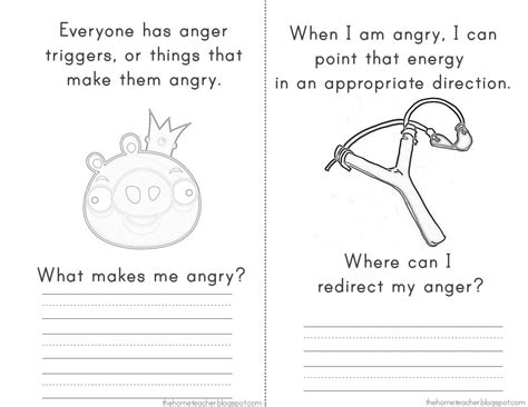 Angry Birds Anger Management Worksheets | dont be an angry bird lessons on anger management for