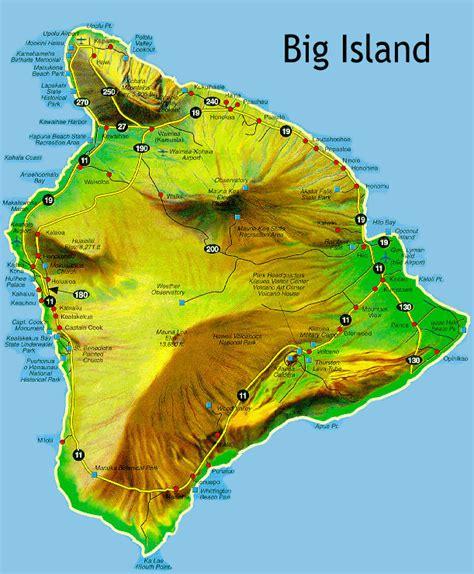 hawaii big island map the big island hawaii feeling