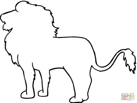 printable animal drawings animal outline drawings lion outline coloring online