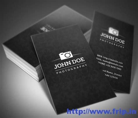 100 best photography business card print templates frip in
