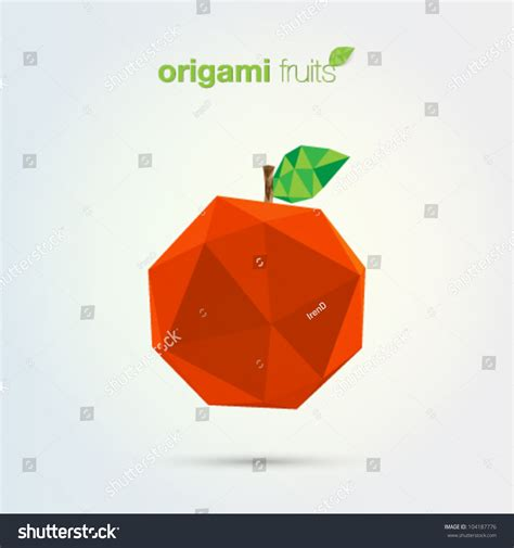 Origami Fruit - origami fruits apple stock vector 104187776