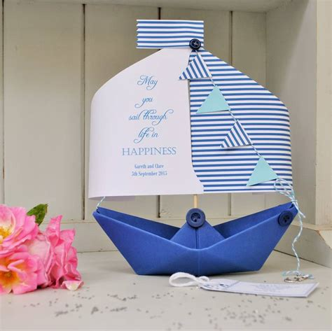Boathouse Gift Card - wedding paper boat card gift keepsake by the little boathouse notonthehighstreet com