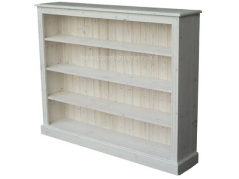 4 Ft Bookcase Solid Pine Bookcase 4ft X 5ft Handcrafted White Washed