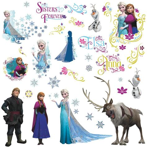 disney frozen wall stickers disney frozen all characters wall decals stickers eonshoppee