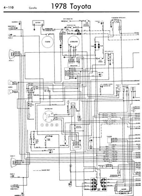 wiring diagrams toyota corolla 1978 guide and manuals