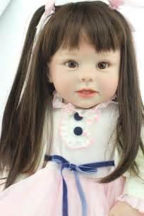 Large size baby reborn toddler dolls long hair princess girl dolls
