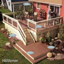 Above Ground Pool Handrails Rebuild An Old Deck With New Decking And Railings The