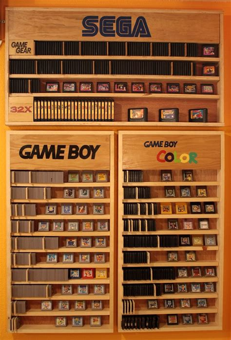 video game storage ideas game boy gbc shelves gaming and video game rooms