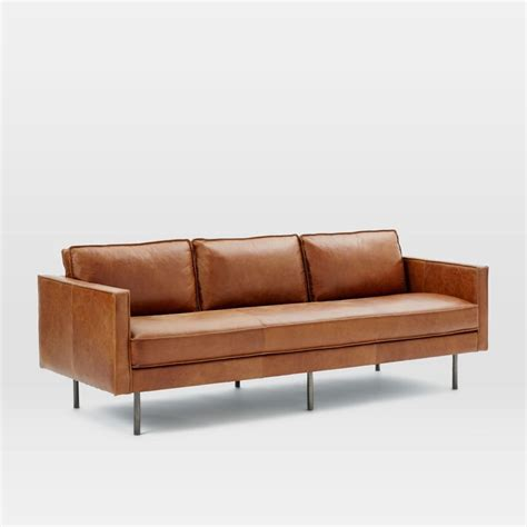 Axel Leather Sofa (226 cm)   west elm AU