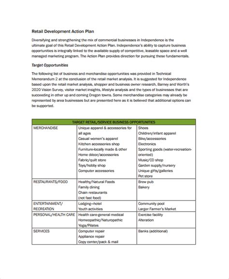 business development plans template sle business development plan template 6 free