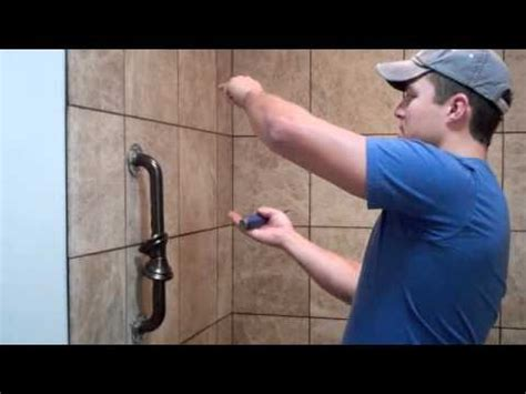 how to install grab bars in bathroom on the jobsite installing shower grab bars youtube