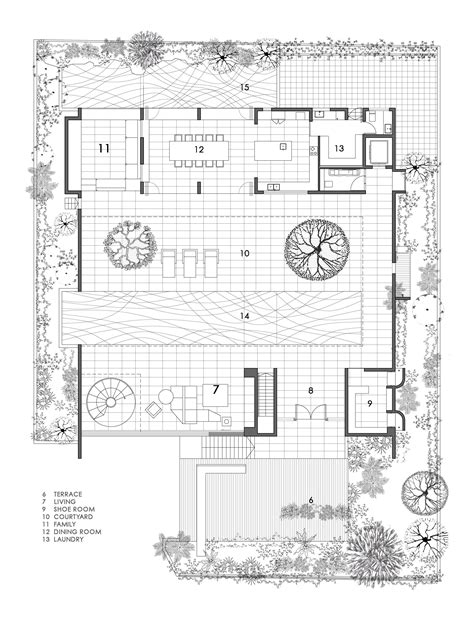 home plans with courtyards 2018 gallery of the courtyard house formwerkz architects 12