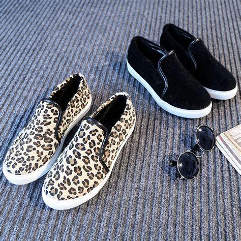 leopard print canvas sneakers 2015 canvas shoes sneakers leopard print slip