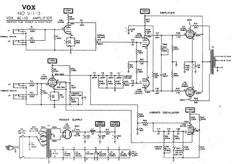 circuit schematic vox vintage circuit diagrams
