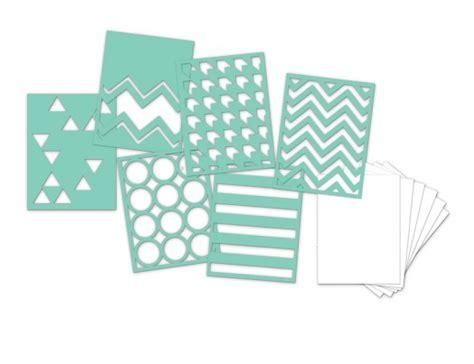 Dijamin Stencil Mini 3 heidi swapp 3 quot x4 quot mini stencil kit patterns