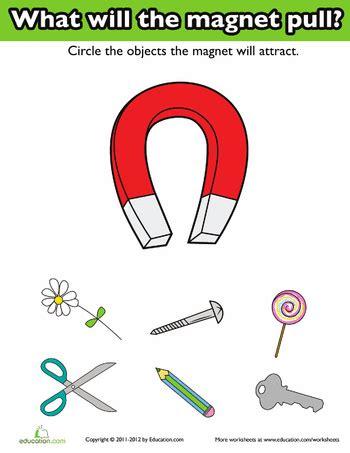kindergarten activities magnets introduction to magnets worksheets kindergarten science