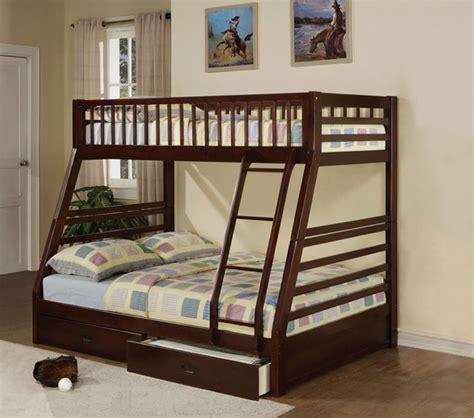 bunk bed set dreamfurniture com jason espresso finish twin full bunk
