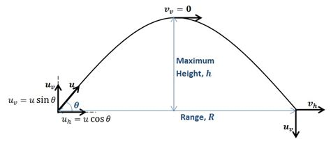 projectile motion diagram how to solve projectile motion problems