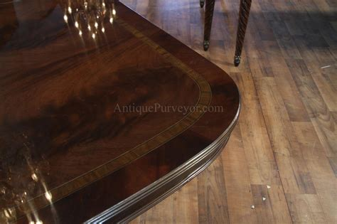 Large Dining Room Table Seats 16 Large And Wide High End American Made Mahogany Dining Room Table Ebay