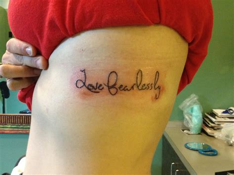 love fearlessly tattoo best 25 fearlessly ideas on