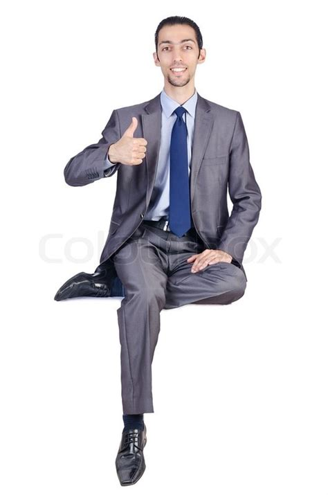 Executive Office Floor Plans by Man Sitting On Virtual Chair Stock Photo Colourbox