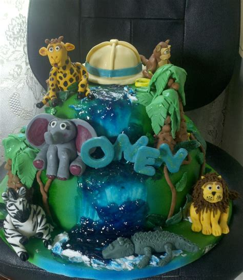Jungle Baby Shower Cake by Jungle Baby Shower Cake Cakecentral