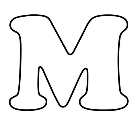 coloring page for letter m m for colouring pages