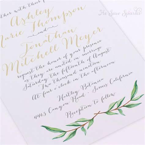 how to calligraphy wedding invitations diy printable wedding invitation watercolor branch diy calligraphy 2431387 weddbook
