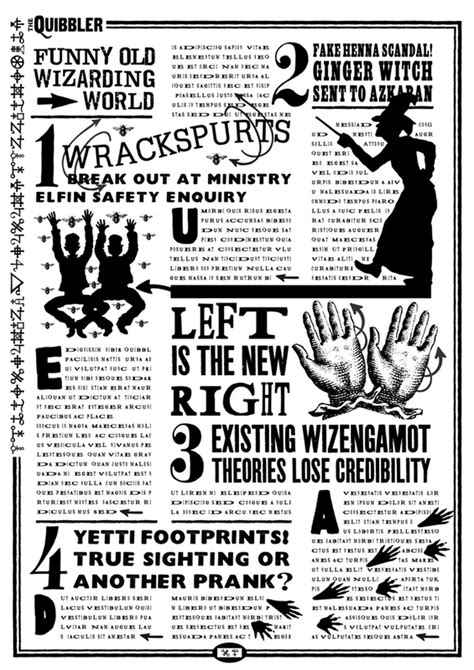 free printable quibbler paper projects for fun paper props free harry potter