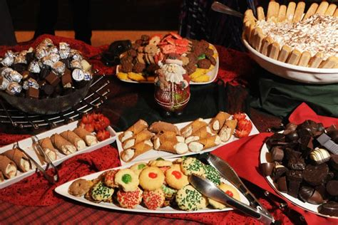 The Dessert Buffet Included A Variety Of Italian Sweet