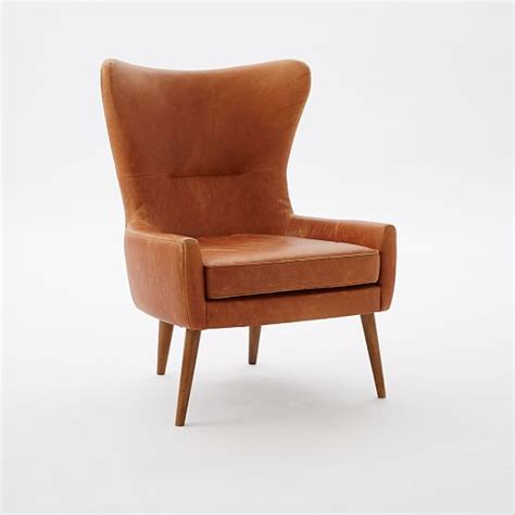 leather wingback chair sydney erik leather wing chair west elm