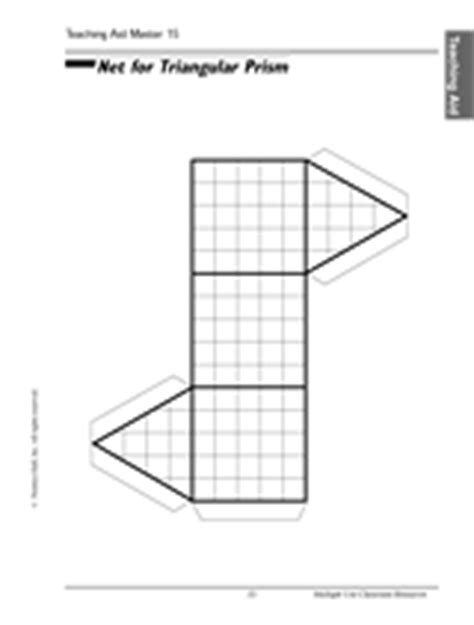 How To Make A Triangular Prism Out Of Paper - triangular prism printable 4th 8th grade