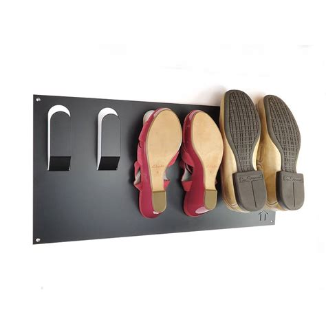 shoe hooks storage stylish wall mounted shoe rack by the metal house limited