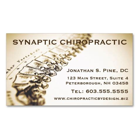 design online chiropractic business cards chiropractor appointment cards double sided standard